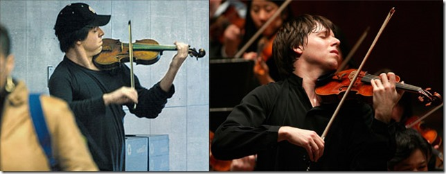 Joshua Bell en el Metro y en Concierto