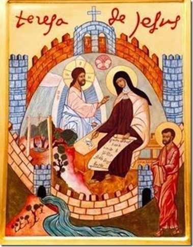 Sta. teresa y castillo con Jesús