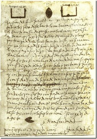 A su hermana, Doña Juana de Ahumada en Avila, Segovia 26 de agosto de 1581