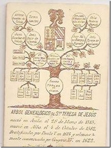 arbol genealogico de santa teresa de jesu