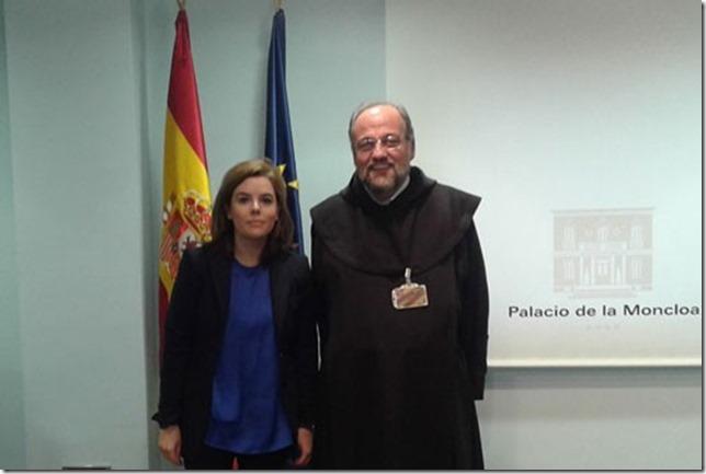 Soraya Saenz de Santamaría y Saverio Cannistrá en la Moncloa
