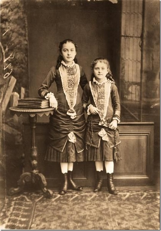 Saint Therese of Lisieux (right) and her sister Celine in 1881