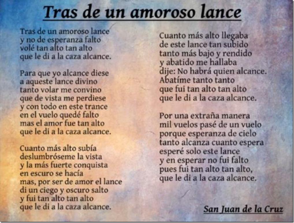 Tras un amoroso lance, San Juan de la Cruz
