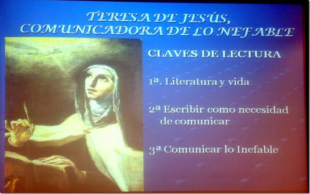 Santa Teresa, comunicadora de lo inefable