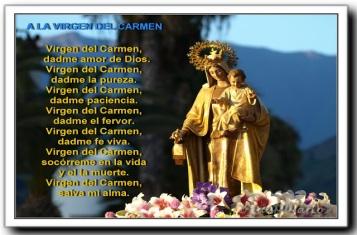 a la Virgen del Carmen