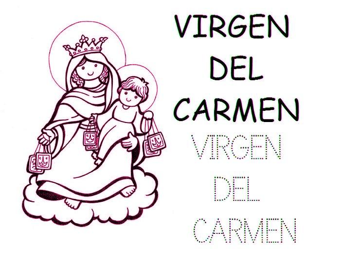 Dibujos De La Virgen Del Carmen Frase Susurro De Dios