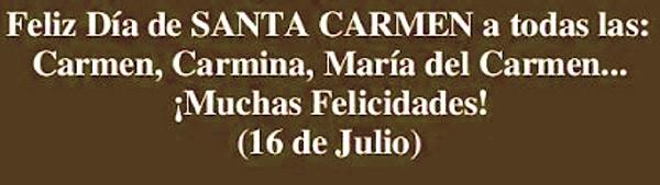 Felicitaciones para santa Carmen