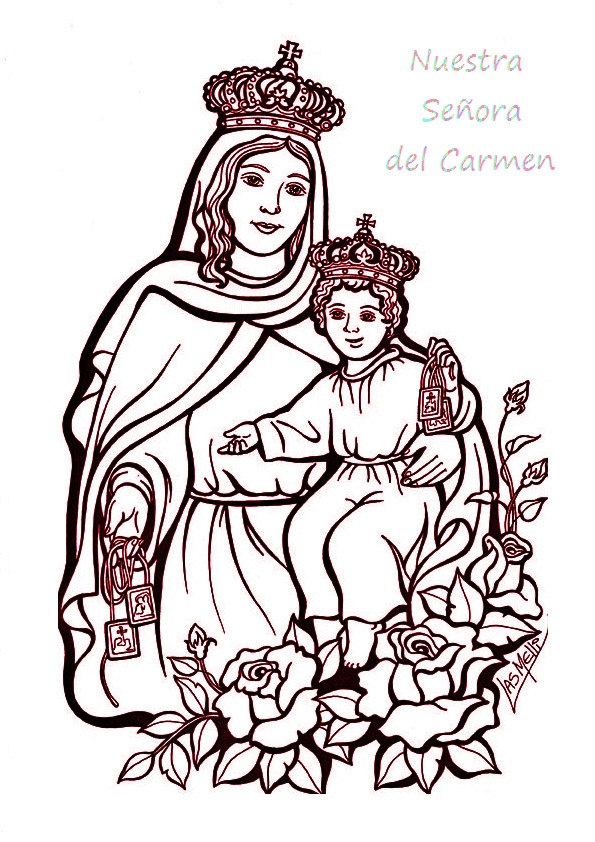 Virgen Del Carmen Para Colorear E Imprimir Susurro De Dios
