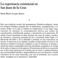 La experiencia existencial en San Juan de la Cruz