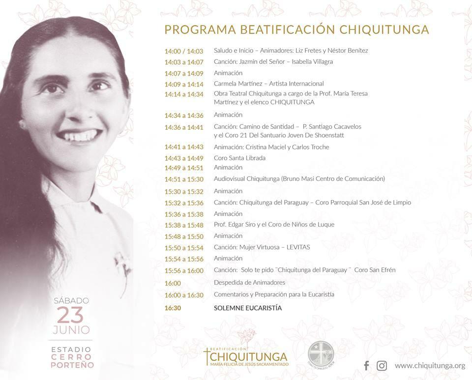Programa de Beatificación Chiquitunga