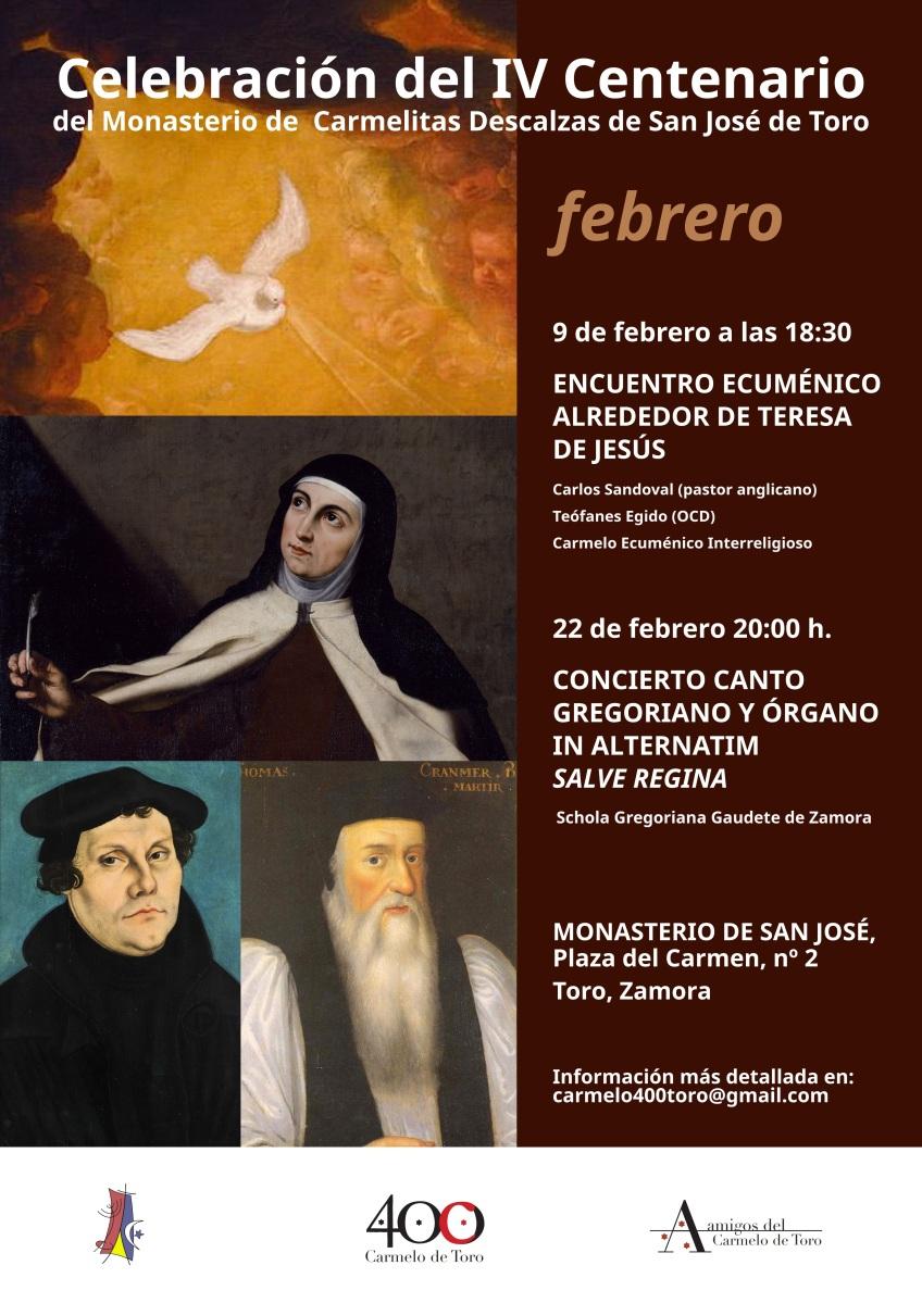 Encuentro Ecuménico alrededor de Teresa de Jesús IV Centenario del Carmelo de Toro